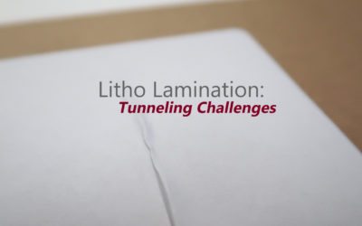 Litho Lamination: Tunneling Challenges
